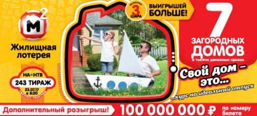 243 тираж Жилищной лотереи
